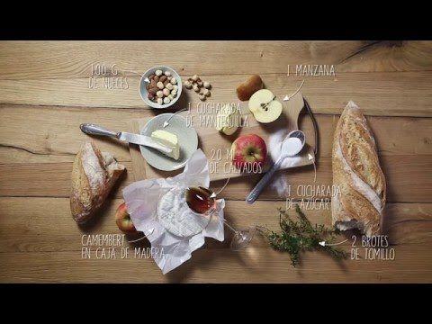 Receta: Camembert con nueces y manzanas caramelizadas
