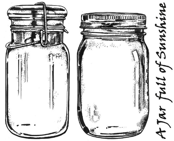 Art Journey Stamps - Mason Jars                                                                                                                                                                                 More