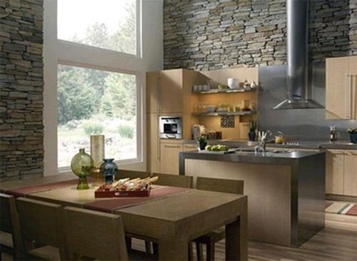 Stone adds a beautiful rustic look!