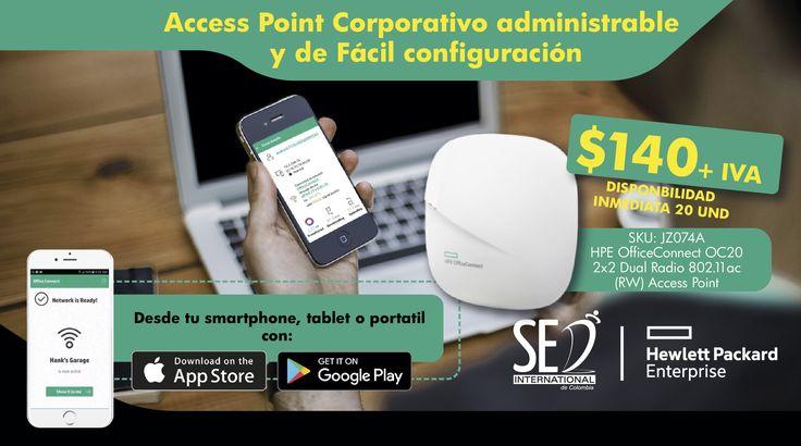 Acces Point Corporativo Administrable y de Fácil Configuración: : Contacta a tu Gerente de Producto para más Información Olrando Ramirez: 310 322 1554 Email: orlando.ramirez@sed.international #HPE #SEDCOLOMBIA #SEDINTERNATIONAL