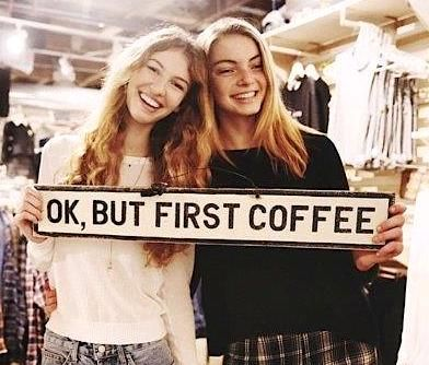 ok but first coffee brandy melville sign