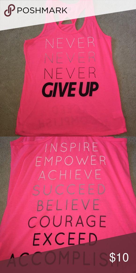 Neon pink workout tank Size medium. Great condition, #neon #workout #fitness #tank Tops Tank Tops