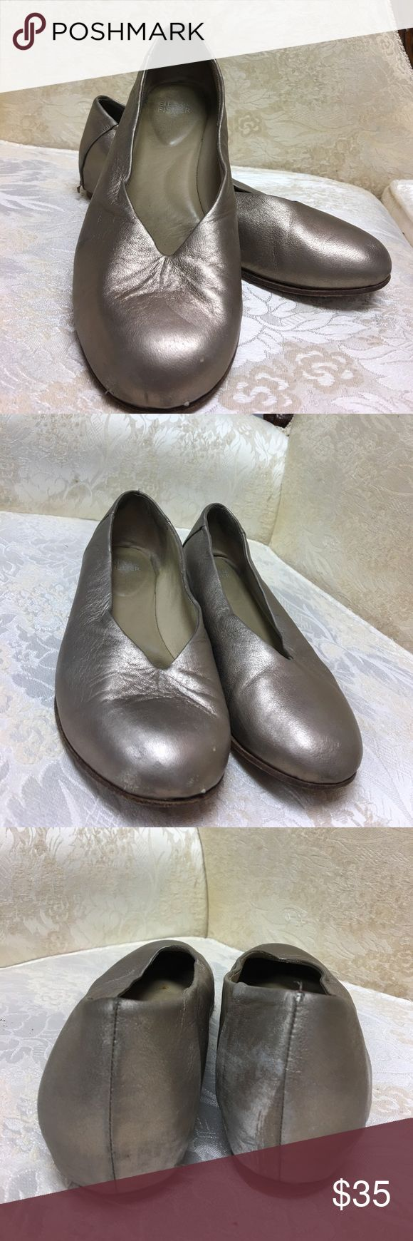 Eileen Fisher Gold Ballet Flats size 7 1/2 Gold Ballet Flats. Fair condition. Several scuffs 7 1/2 Eileen Fisher Shoes Flats & Loafers
