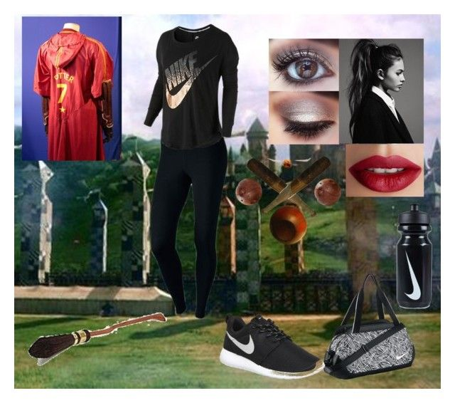 """""""First game"""" by hugo-mops ❤ liked on Polyvore featuring Tema, NIKE and TheBalm"""
