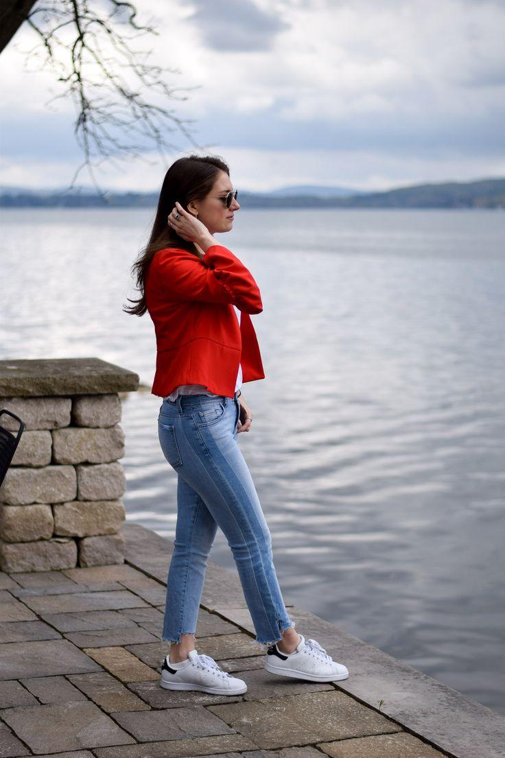 Bell sleeved red Zara jacket