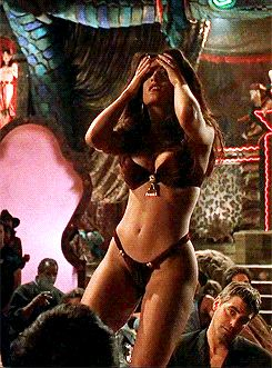 """famoussohottub:    Salma Hayek dances to the end of love…. (Part 3 - """"From dusk till dawn)"""