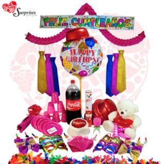 Kit Fiesta Inolvidable Muchas veces no sabemos cuál es el regalos ideal y con este hermoso REGALO encontraras la manera perfecta de decir ¡FELICIDADES! Estamos para servirte www.surprisesbogota.com tel: 4380157 Cel: 3123750098