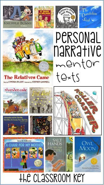 mentor text personal essay Students to learn how to write an opinion essay about a character the teacher  model in this unit  mentor text: scott foresman 31, my rows and piles of  coins, pages 120-135 as a review, the  add personal examples to the anchor  chart.