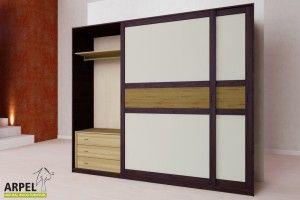Armadio Feng 250x250 cm con inserto in legno