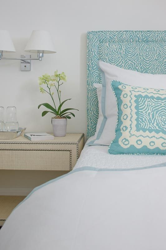 Beautiful Blues Hail To The Headboard Pinterest Bedroom Amazing Patterned Headboards