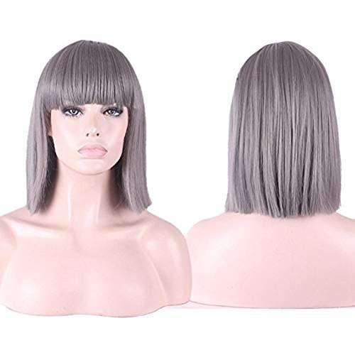 Perruque de cheveux gris