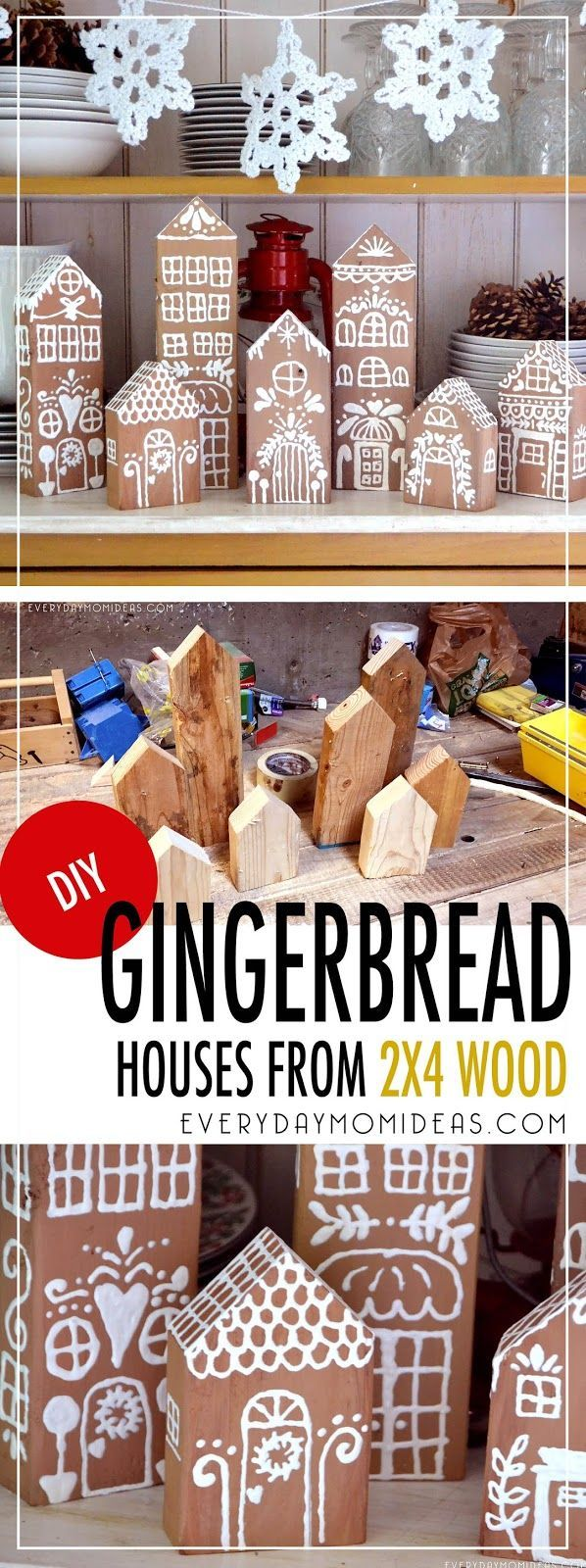 Stunning Gingerbread Houses You Can Use Year After Year, made from left over scr…