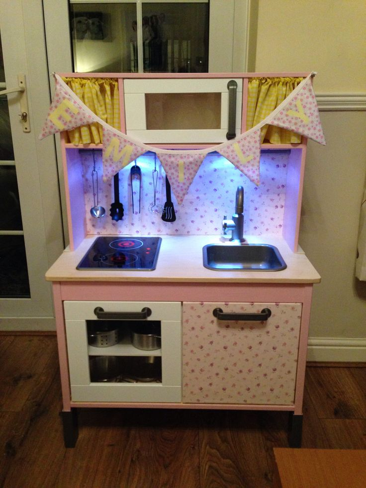 Customised ikea children 39 s kitchen baby girl 2nd for Cheap kids kitchen set