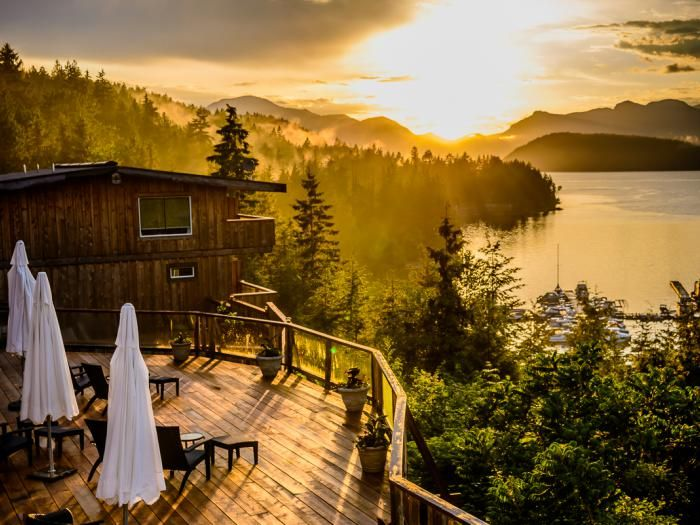 We love our nature. Nice view #westcoast #BC West Coast Wilderness Lodge! Unique cabin accommodations and elopement package.