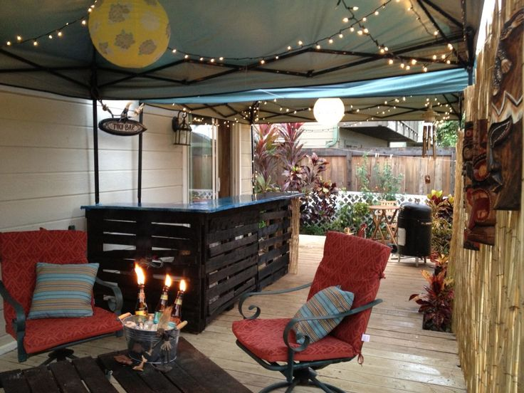 Oh this is such a good idea build a tiki bar using old for Building a tiki bar from pallets