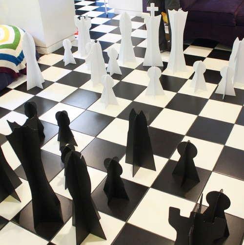 how to make giant chess set