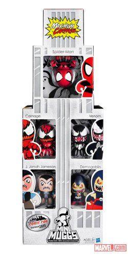 NYCC 2011 Exclusive Spider-Man Maximum Carnage Mini Muggs Set @ niftywarehouse.com #NiftyWarehouse #Spiderman #Marvel #ComicBooks #TheAvengers #Avengers #Comics