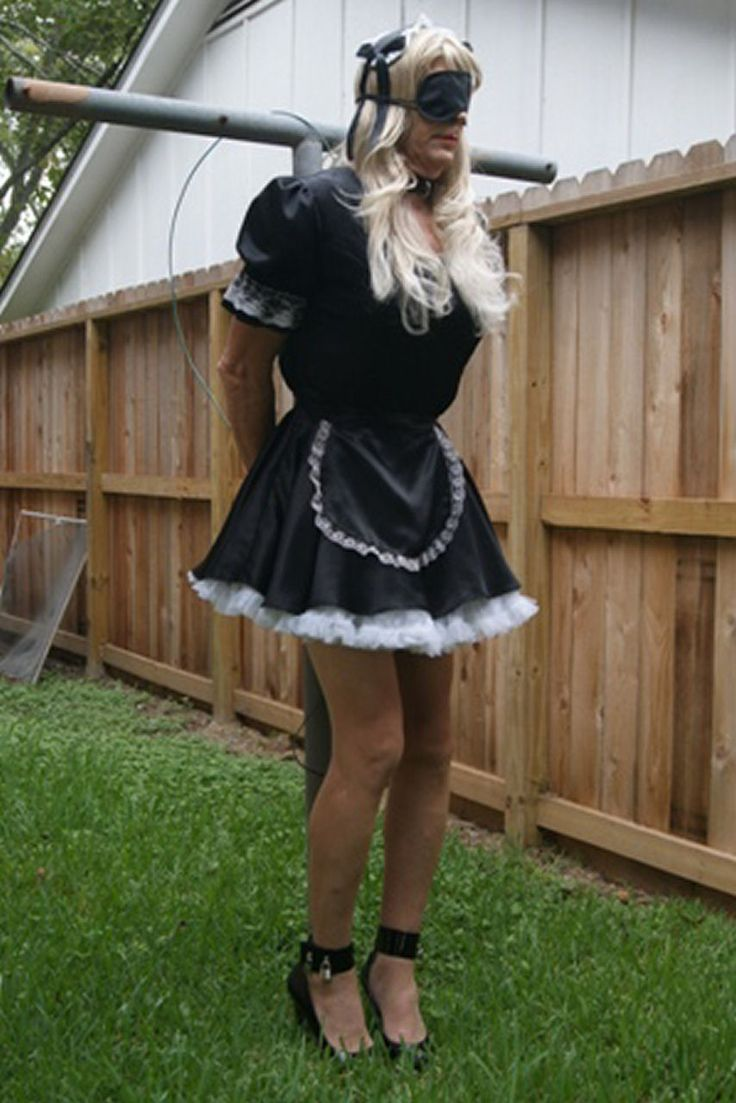 white sissyboy slave to black master