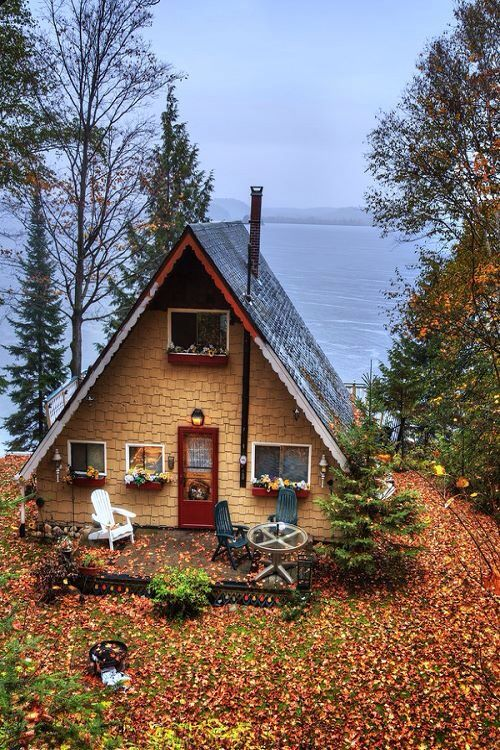 Autumn Cottage at Lake Vernon, Canada
