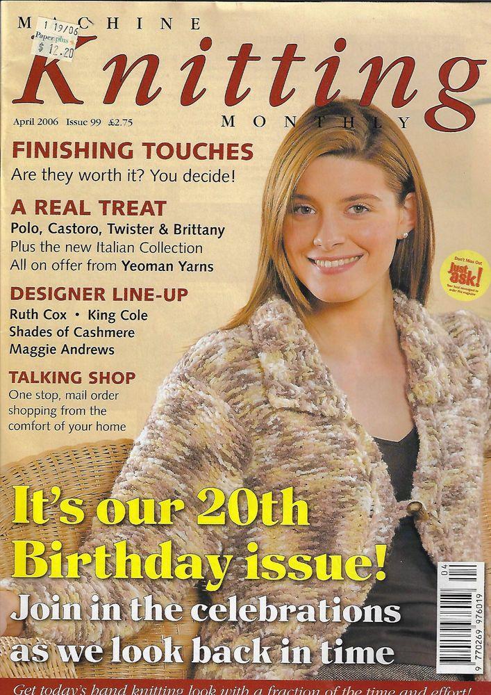 Machine Knitting Monthly magazine April 2006 Issue 99 baby jacket sweater toy