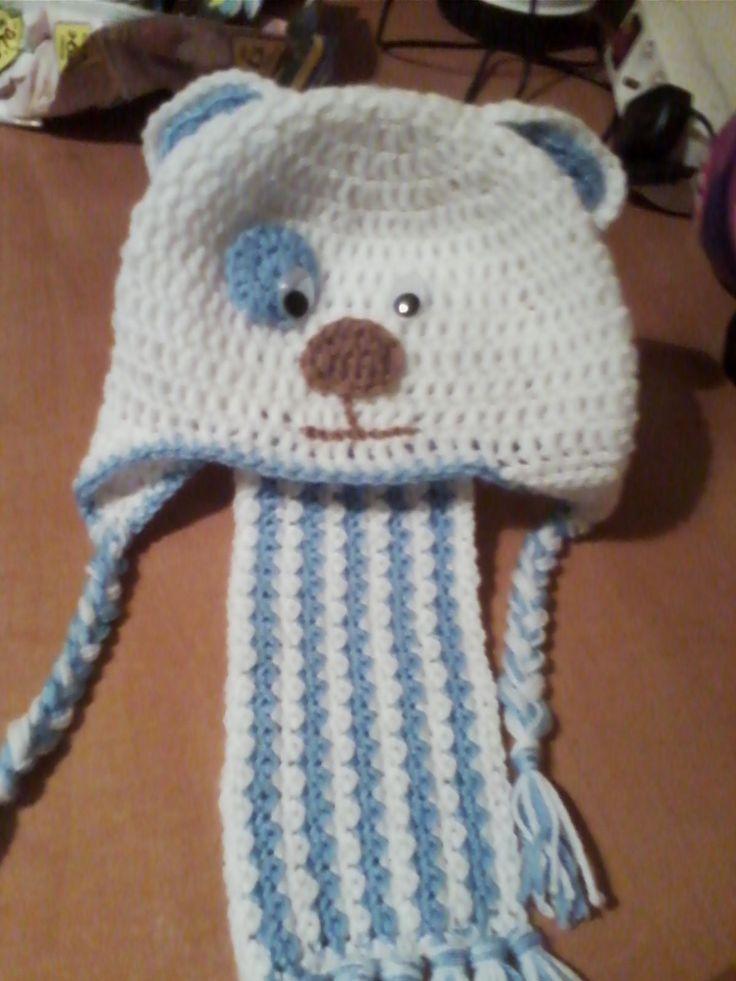 belonaki σκουφακι + κασκολ crochet scarf + hat