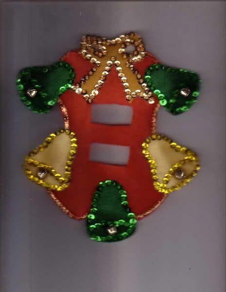 Apagadores navideos de fieltro con molde!! | karina25