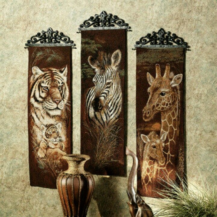 I Love These, But For My Black And White Zebra Room, I Donu0026 Know.I Can Get  Just The Zebra. Safari Animals Panel Set Set Of Three Part 51