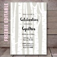 free-editable-woodland-baby-shower-invitation-birch-tree-invitation-wooland-invitation