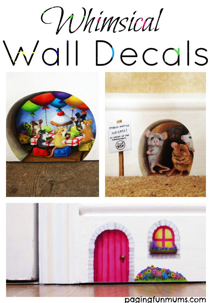 Whimsical Wall Decals! A wonderful way to foster your child's imagination! So adorable!