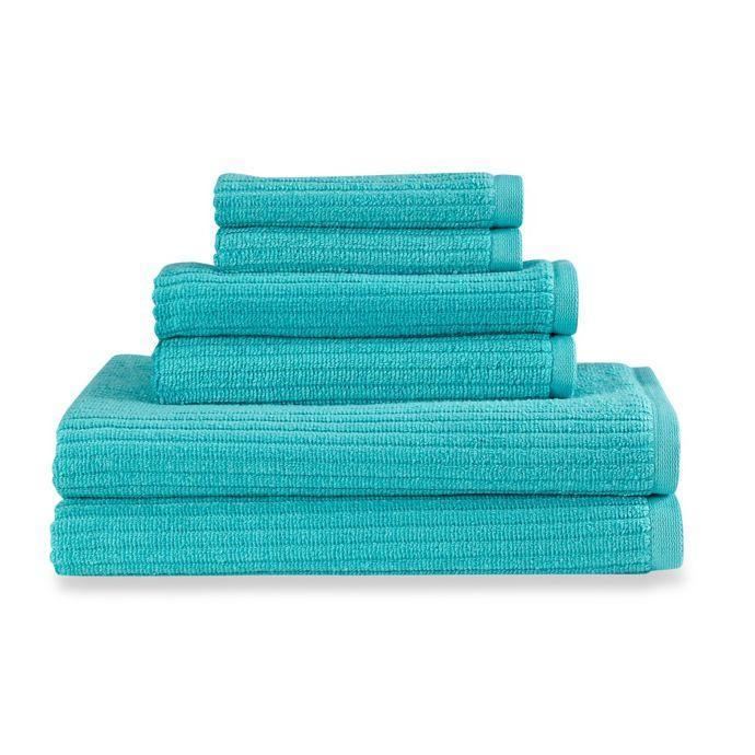 Bed Bath Beyond Dri Soft Plus 6 Piece Towel Set Aqua Towel Set