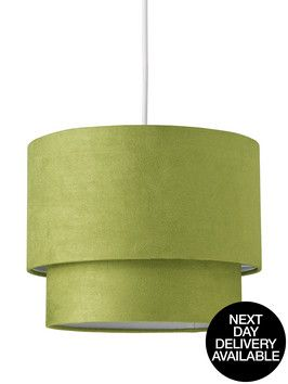 Ingrid Faux Suede Light Shade Pendant | very.co.uk