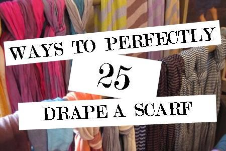Scarves are an easy way to add a Spring and Summer punch of color to your outfit without breaking the bank.  Here is a quick video to show you 25 ways to wrap up to enhance your next outfit.  This time of year calls for a lightweight scarf that moves with the breeze