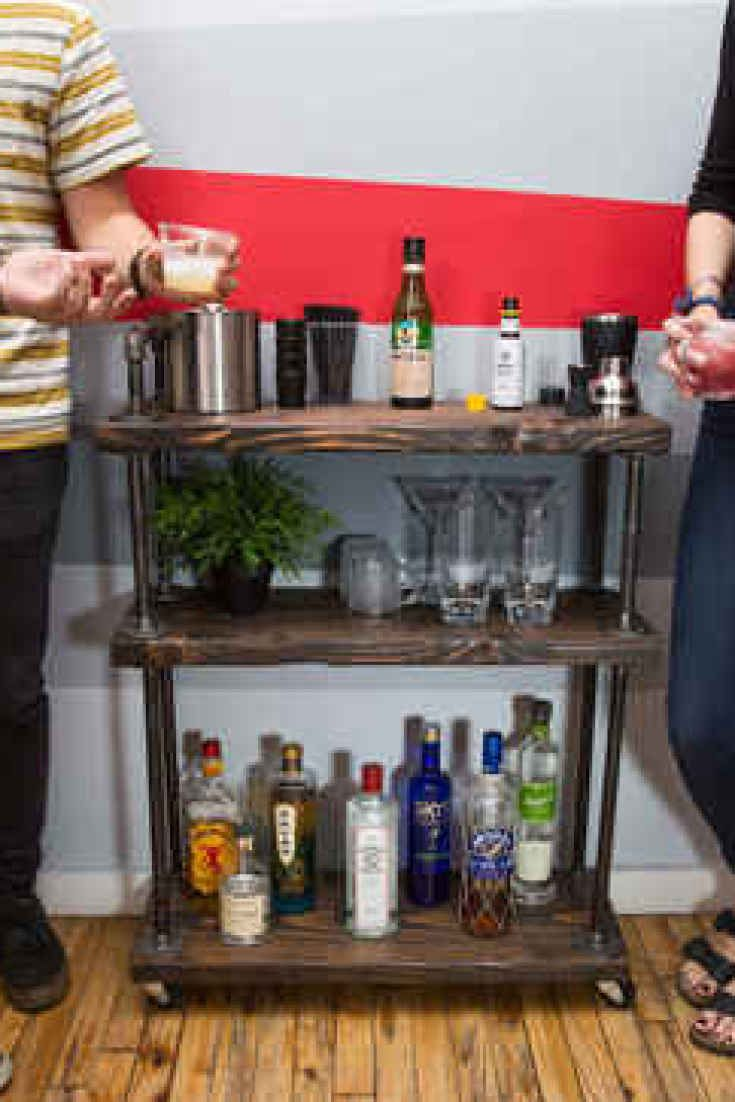 Make a DIY bar cart in less than 1 hour