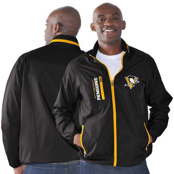 Pittsburgh Penguins G-III Sports by Carl Banks Game Plan Full-Zip Jacket - Black - $74.99