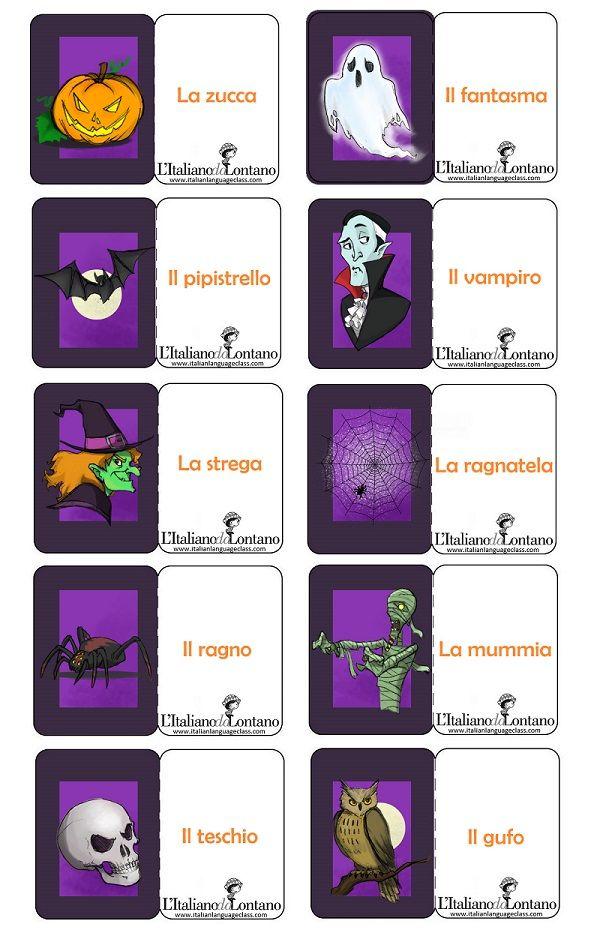 Le flashcard di ottobre per prepararci alla festa di Halloween :-) #learnitalian, #italianlanguage, #italianonline