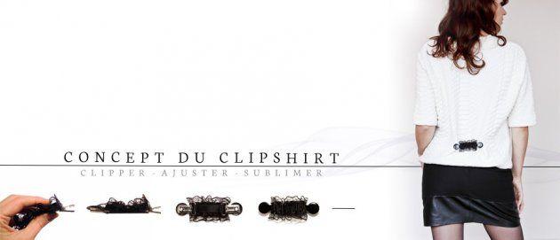 Le concept des clipshirts, pinces-bijoux haut-de-gamme pour vêtements.  #accessoire #mode #femme #fashion #pince #vêtement #crowdfunding #financement #mymajorcompany