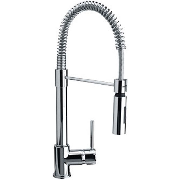 franke coxy chrome single lever pull out spray kitchen sink mixer tap - Kitchen Sink Tap