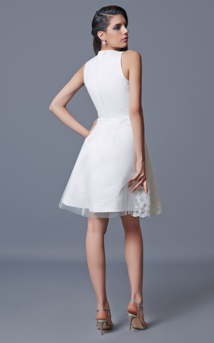 Into your fashion game with amazing party dresses cocktail dresses day - Sleeveless Short Satin Dress With Embroidery Best Cocktail