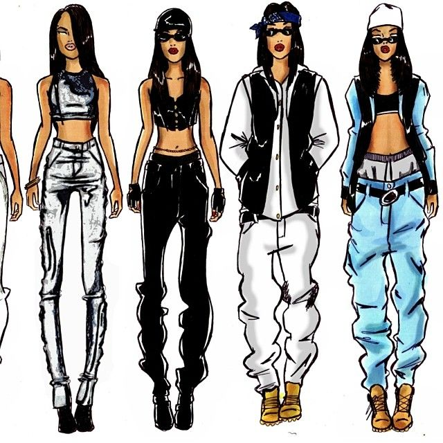 Aaliyah style -- so used to want to be like and dress like her!