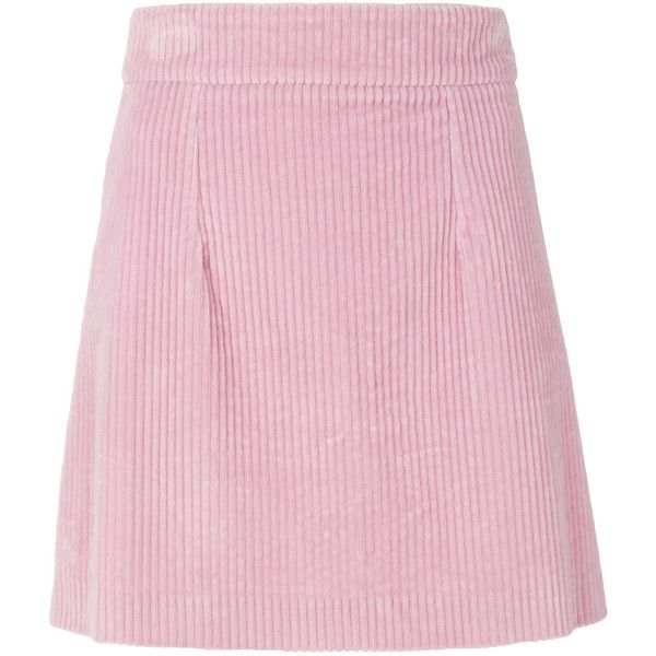 House Of Holland corduroy skirt (1,420 PEN) ❤ liked on Polyvore featuring skirts, corduroy skirt, house of holland, house of holland skirt, pink corduroy skirt and pink skirt