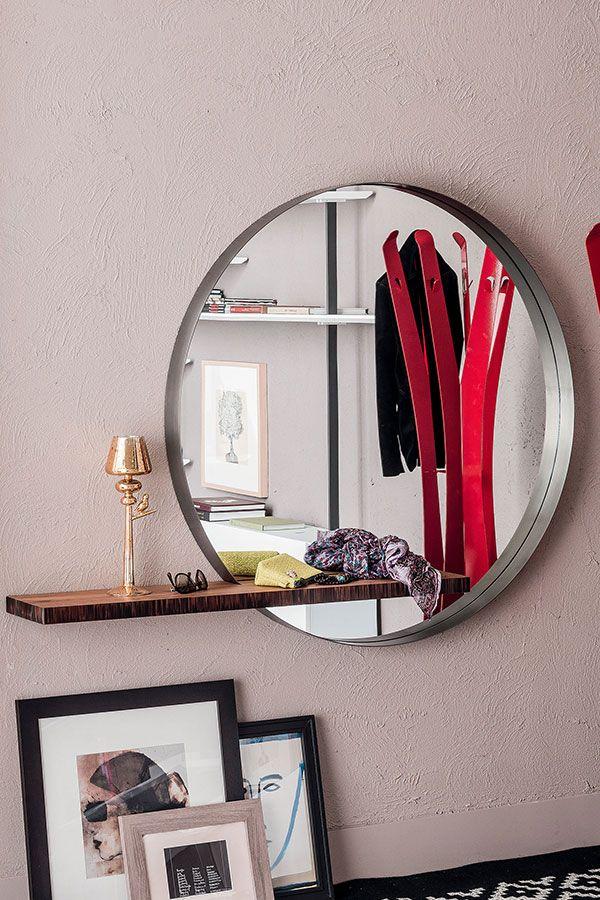 Perfekt Fur Flur Und Garderobe Der Runde Wandspiegel Wish Board