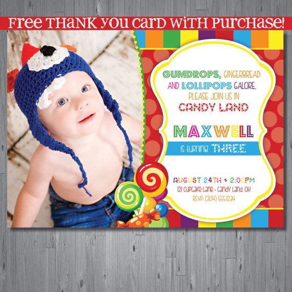17 best images about candyland invitations on pinterest