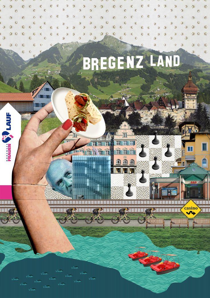 Bregenz. City environment collage.