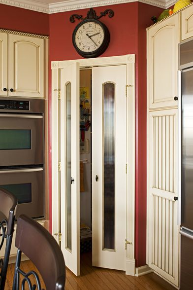 Narrow Pantry Door And Tall Cabinet Were Storage Solutions Home Pinterest Pantry Country