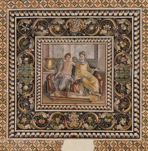 Eros and Psyche - from Mosaic of Zeugma, in Turkey