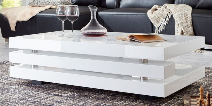 Coffee Table And White High Gloss Ancona 2 Couchtisch Weiss