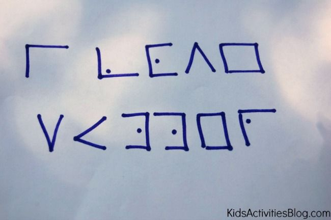 """5 Secret Codes for Kids to Write a Coded Letter Ideas to replace """"invisible ink"""" in Workshop of Wonders"""