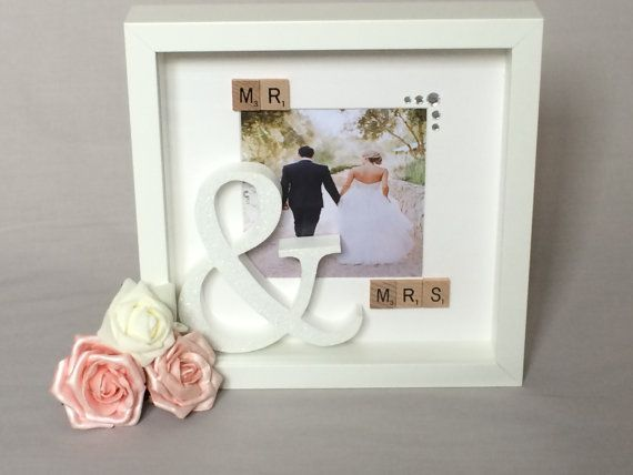 Gorgeous mr & mrs scrabble 3d box frame with by Paperlilycrafts