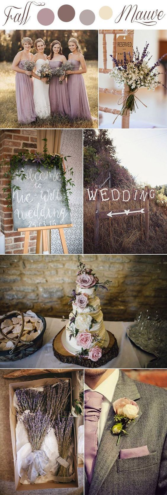 fall mauve and lavender romantic rustic wedding colors#weddingcolors#mauve #romanticweddings