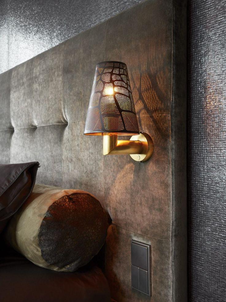 Designverlichting bij luxe bed